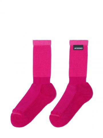 Pink Les chaussettes à l'envers socks