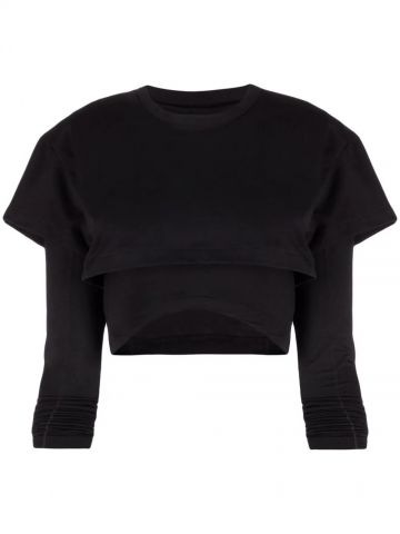 Black Le double T-shirt