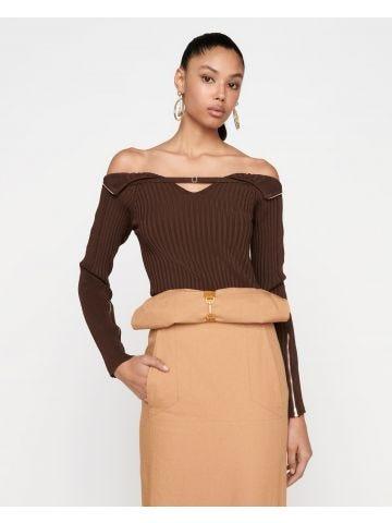 Brown La maille Oro sweater