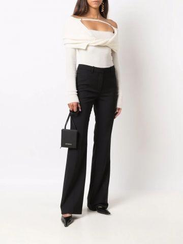 La Maille ascua white sweater