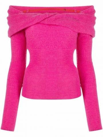 La Maille ascua pink sweater
