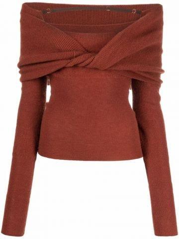 La Maille ascua brown sweater