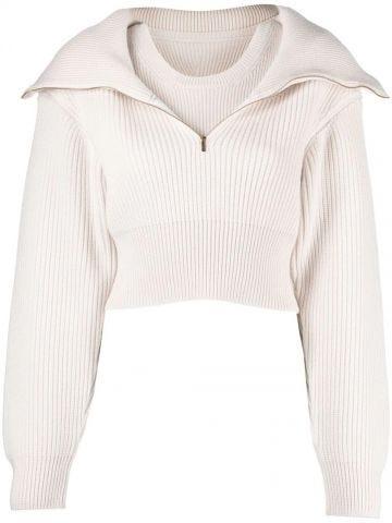 La Maille Risoul white sweater