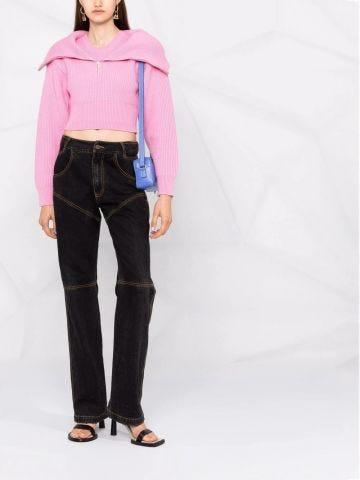 La Maille Risoul pink sweater