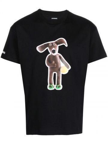 Black Le T-shirt Toutou
