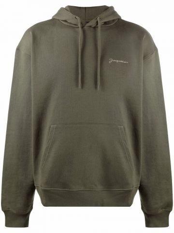 Le sweatshirt brodé verde