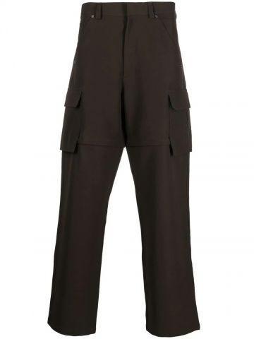 Green 2-in-1 cargo pants