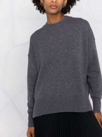 Grey cashmere knitted sweater