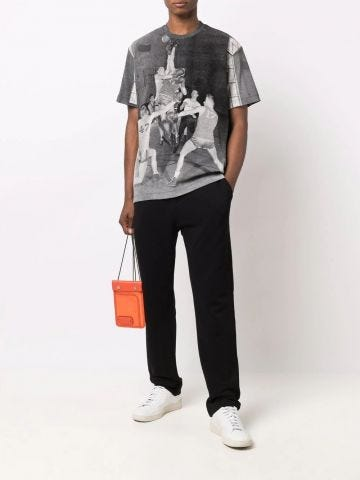Gray t-shirt with print