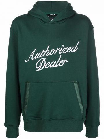 Green printed hoodie