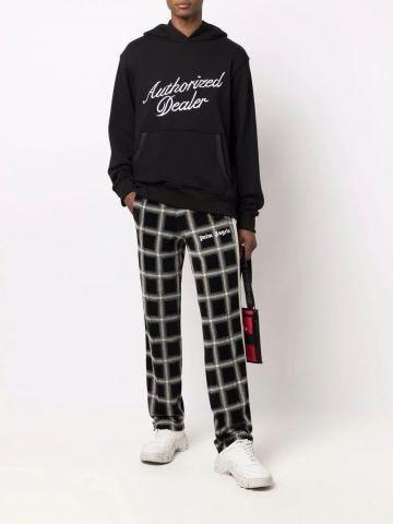 Black printed hoodie