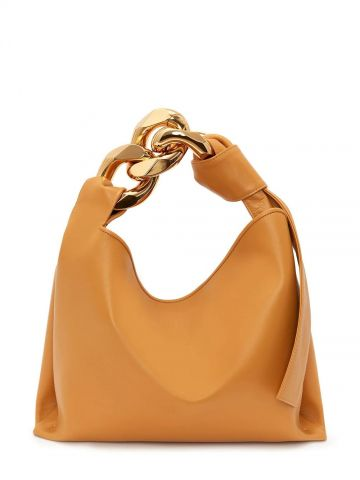 Yellow small Chain hobo bag