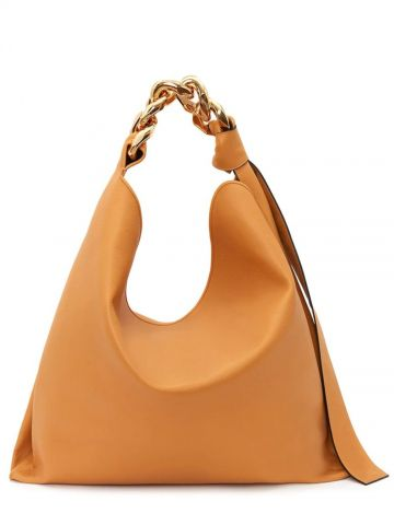 Yellow large Chain hobo bag