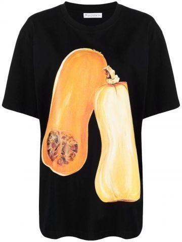 Black oversized veggie T-shirt