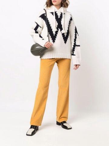 White JWA chunky hooded sweater