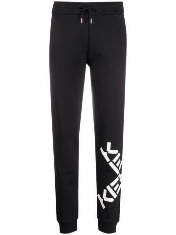 Black KENZO Sport Big X jogging trousers