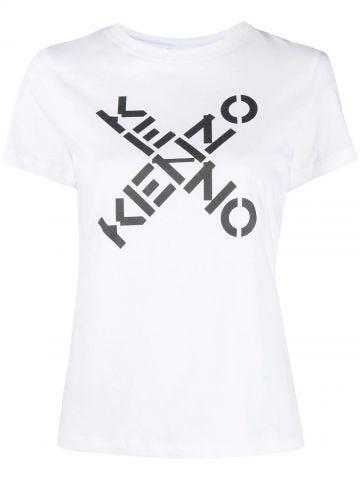 White KENZO Sport Big X T-shirt