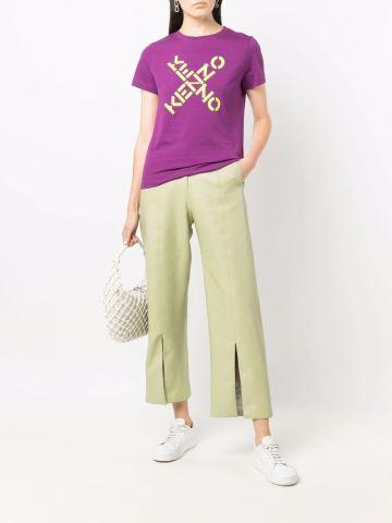 Purple KENZO Sport Big X T-shirt