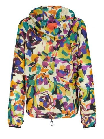Printed nylon windbreaker jacket