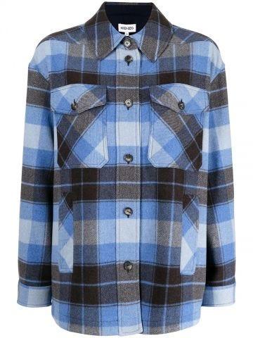 Blue tartan shirt