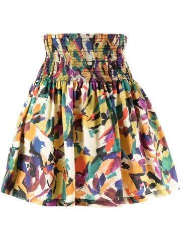 Multicoloured print mini skirt
