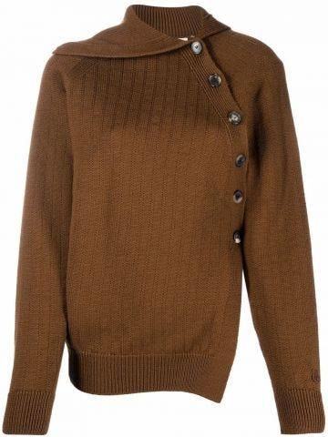 Brown asymmetric sweater