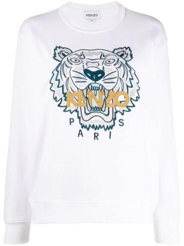 Felpa Tiger bianca