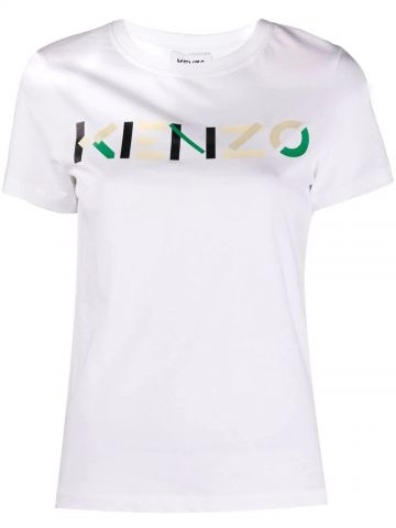KENZO T-shirt with multicoloured logo