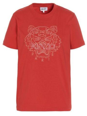 Loose red Tiger T-shirt