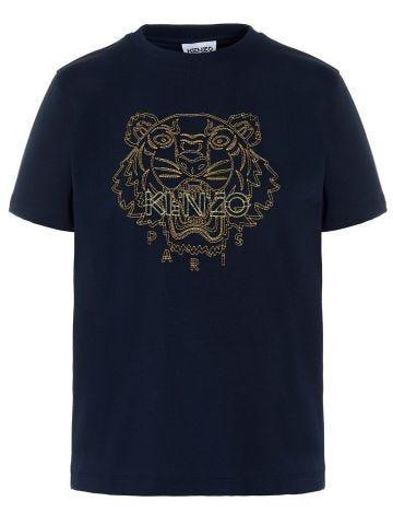 Loose blue Tiger T-shirt