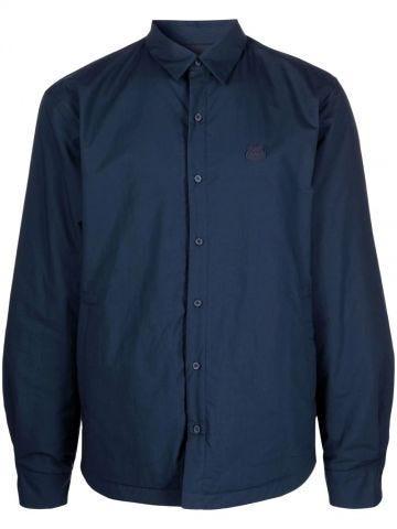 Blue Tiger applique shirt-jacket