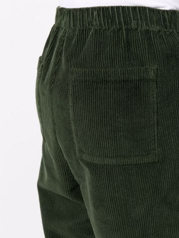 Green velvet trousers