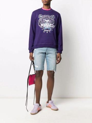 Purple Tiger print sweatshirt