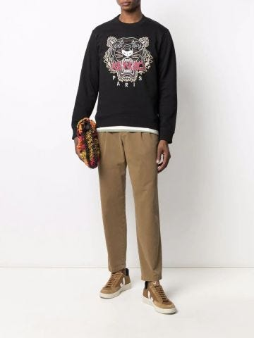 Black Tiger embroidered sweatshirt
