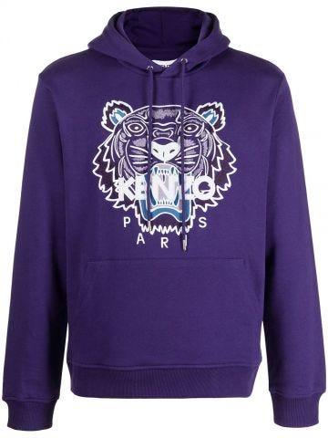 Purple Tigre hooded sweatshirt