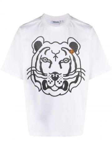 White K-Tiger oversized T-shirt