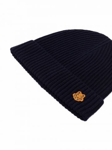 Navy blue Tiger Crest beanie