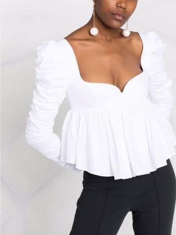 Katia white cotton top