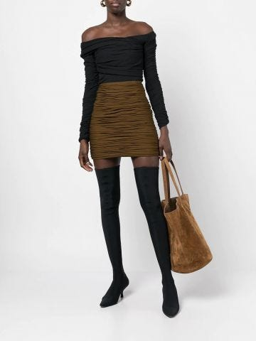 The Lili black ribbed bodysuit
