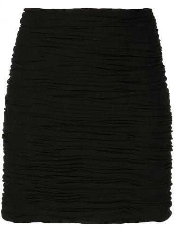 The Moira black ruched skirt