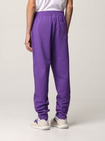 Violet multicolored print track pants