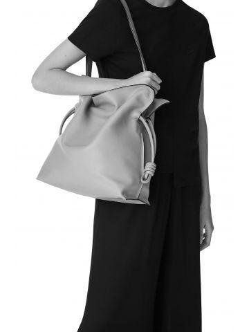 Large Flamenco bag in black nappa calfskin