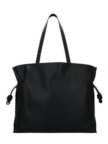 Flamenco XL shoulder bag in black nappa