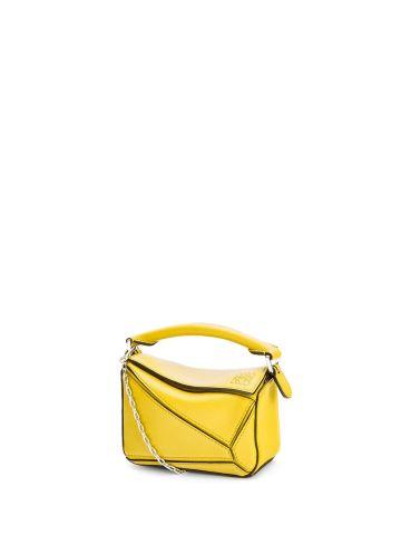 Nano Puzzle bag in classic yellow calfskin