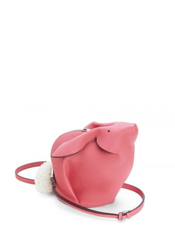 Pink Bunny bag in calfskin and shearling