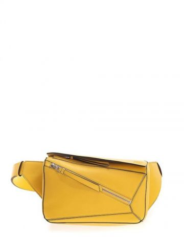 Small Puzzle Bumbag in smooth yellow calfskin