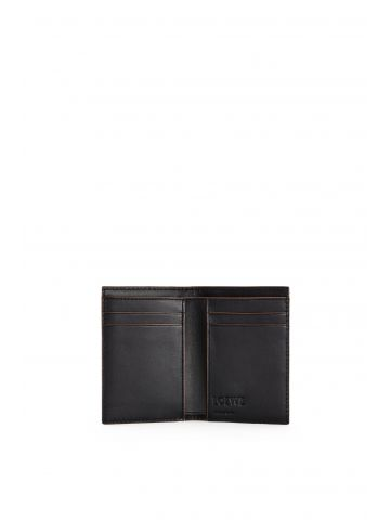 Puzzle stitches bifold card wallet in smooth calfskin
