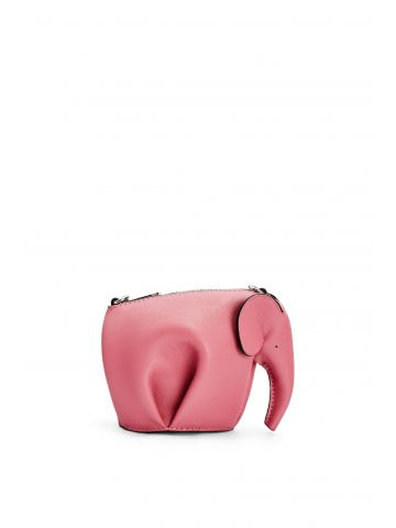 Pink Elephant Pouch in classic calfskin