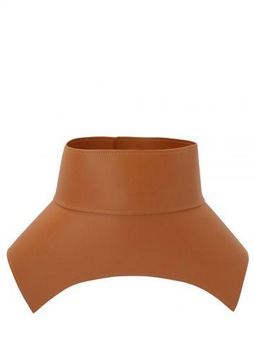 Obi belt in brown nappa