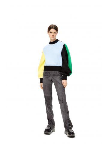 Circular sleeve sweatshirt in cotton
